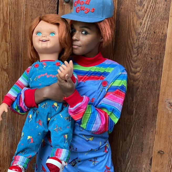 Janelle Monae as Chucky for Halloween 2020