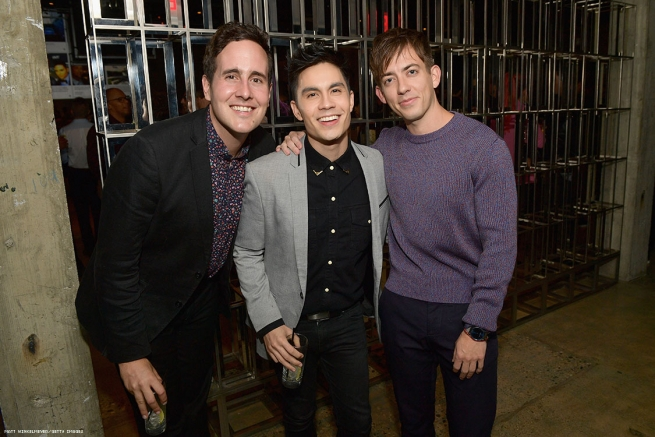 (L-R) Blake Knight, Sam Tsui and Kevin McHale