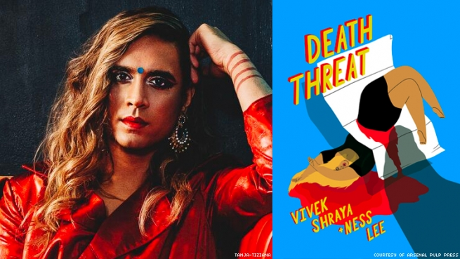 Out interviews transgender writer and artist Vivek Shraya about new graphic novel Death Threat with Ness Lee.