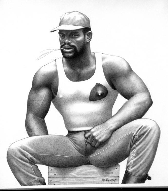 tom of finland black sketch