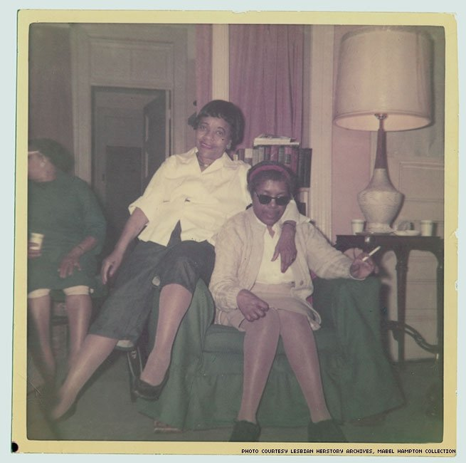 1960s - Performer Mabel Hampton with longtime girlfriend Lillian Foster