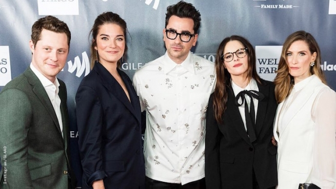Dan Levy at the Glaad Awards