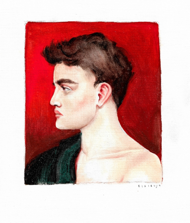Drawing of a man in profile by El Dubujo