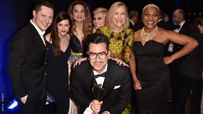 The Cast of Schitt's Creek at the Canadian Screen Awards