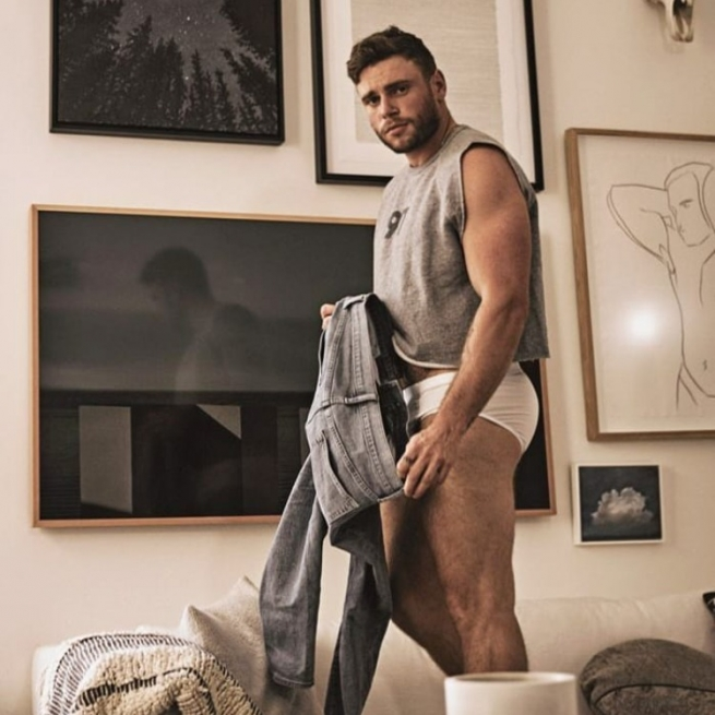 Gus Kenworthy appears in the photo book At Home by Brian Kaminsky