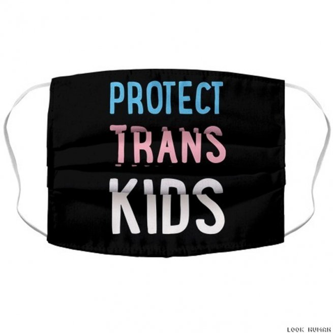 Protect Trans Kids Face Mask