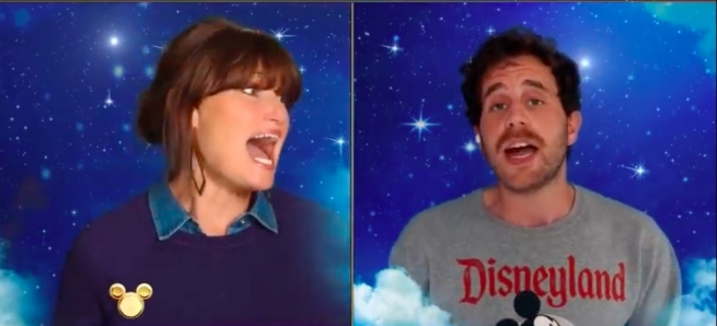 Idina Menzel and Ben Platt in Disney Singalong