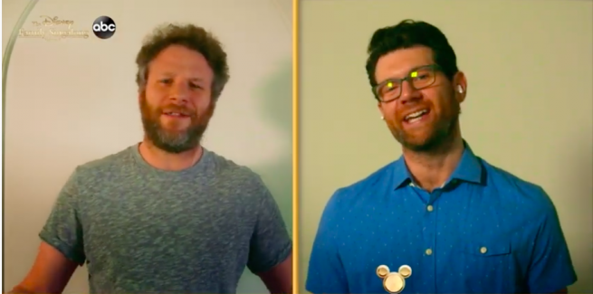 Billy Eichner, Seth Rogan in Disney Singalong