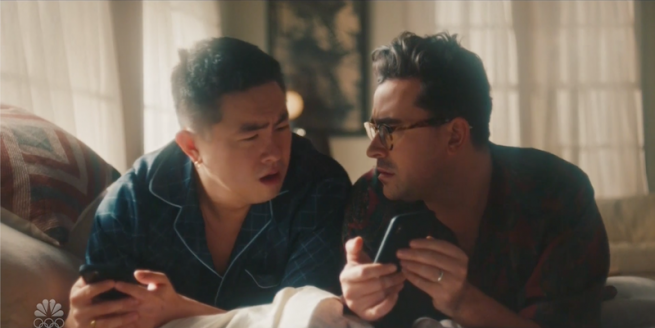 Dan Levy and Bowen Yang in Zillow ad
