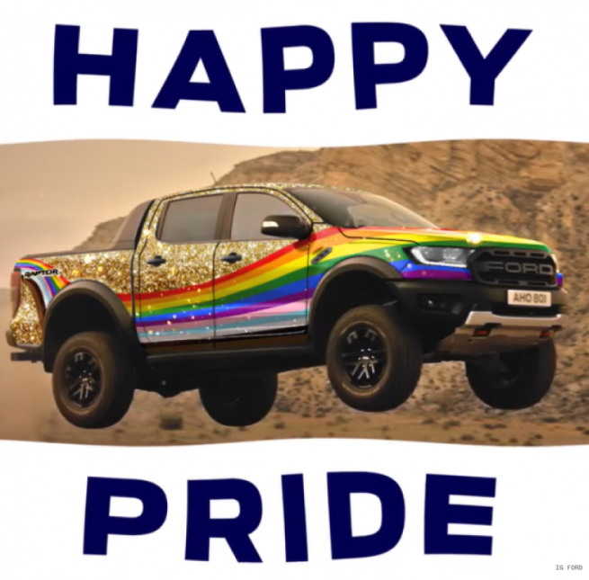 Ford Responds to Homophobic Slur With A Very Gay Truck