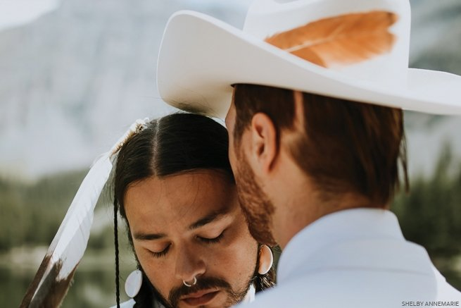 A new tradition: A couple honors their Western heritages in an unique wedding.