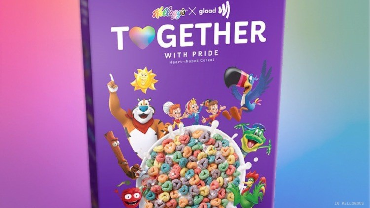 Kellogg's and GLAAD Team Up with New Glittery Pride-Themed Cereal