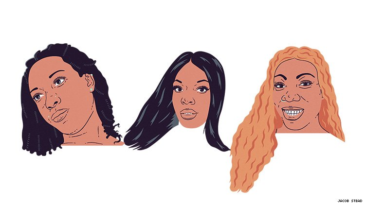 A triptych of three trans women murdered in 2019.