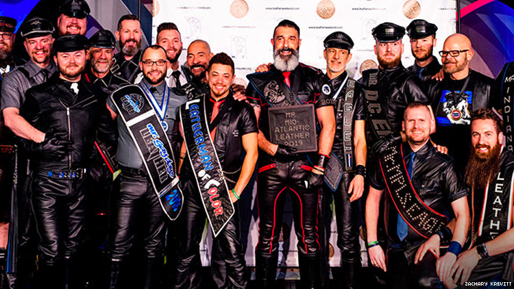 A photo of titleholders at Mid-Atlantic Leather 2019.