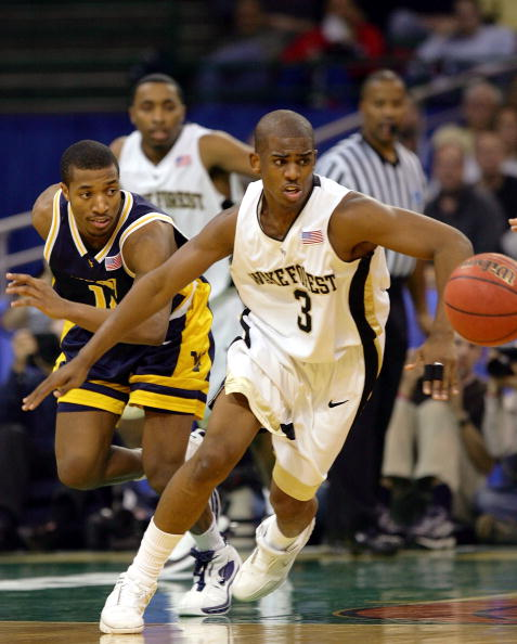 Chris Paul of the Wake Forest Demon Deacons