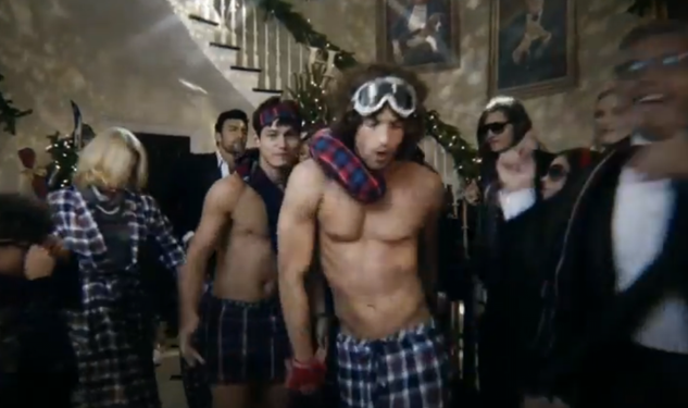 tommy hilfiger wants you to have a shirtless disco party this christmas - Tommy Christmas