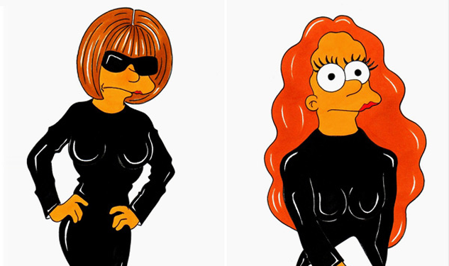 Anna Wintour Re-Imagined as 'Simpsons' Character