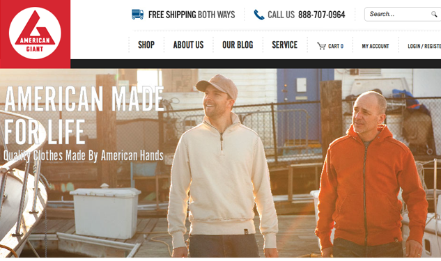 Now Open: American Giant Launches Online Shop
