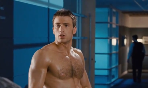 Chris Evans Reveals His Shirtless Side