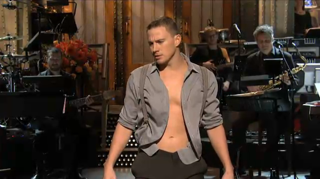 Channing Tatum Strips on 'Saturday Night Live'