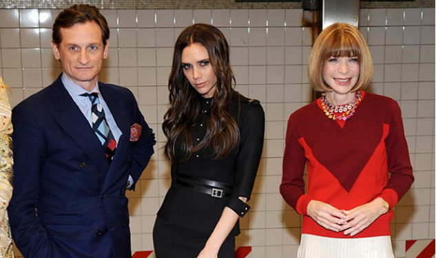 Picture This: Anna Wintour and Victoria Beckham Waiting for the Subway?