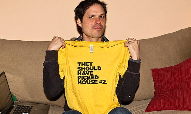 At the 'House Hunters' Bingo Party with Michael Ian Black