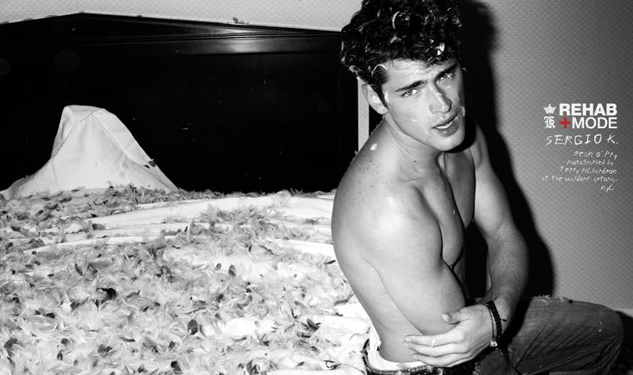 Pose Off: Amanda Lepore Stars with Sean O'Pry in Sergio K. Rehab Mode Ads