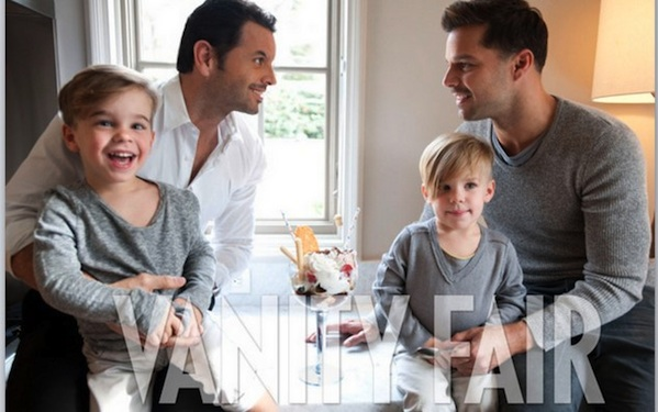 Ricky Martin Shows Off His Partner And Family