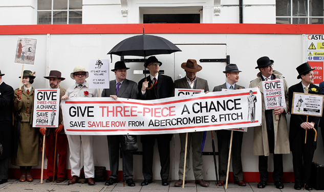 Pic of the Day: Savile Row Protests Abercrombie & Fitch Store Opening