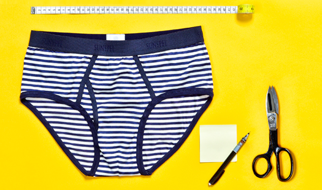 Salute Your Shorts: Sunspel X Monocle Striped Briefs