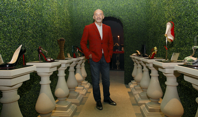 "Christian Louboutin Steps Out in the ""Gareth"" Shoe, Named After Rugby Player Gareth Thomas"