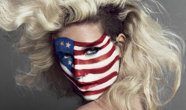 Ke$ha Gets Patriotic in Photo Shoot