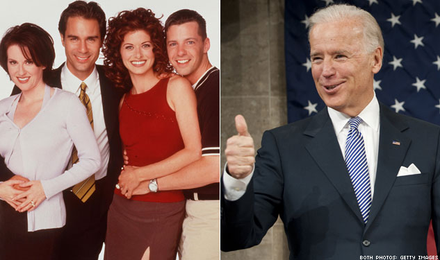 'Will & Grace' Stars Thank Biden for Marriage Equality Support