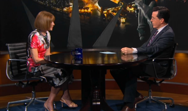 Video: Anna Wintour Talks Gay Marriage on 'The Colbert Report'