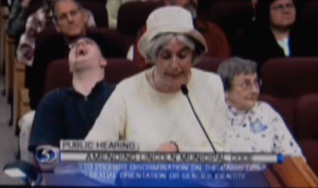 Crazy Woman Gives Bizarre, Incoherent Anti-Gay Speech at City Council Meeting