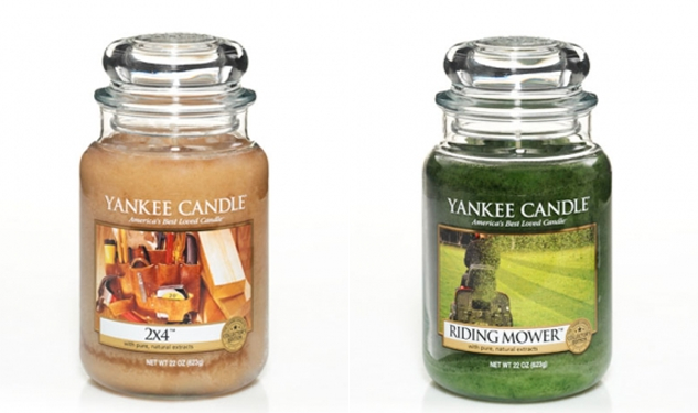 "Yankee Candles Lauches ""Man Candles,"" Thus Insinuating That Candles are Intrinsically Feminine"