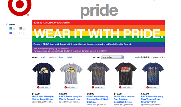 Target Shows Some Pride