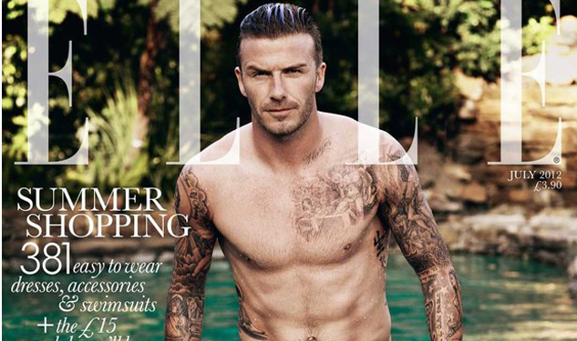 David Beckham Takes a Swim for Elle UK