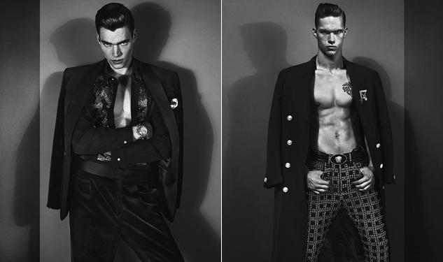 Ad Men: Versace Goes Black & White for Fall 2012 Campaign