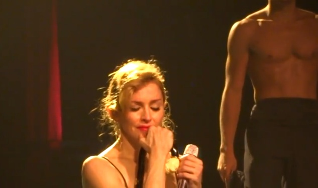 Madonna Breaks Down Into Tears During 'Like a Virgin'