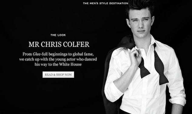 Chris Colfer Has 'The Look'