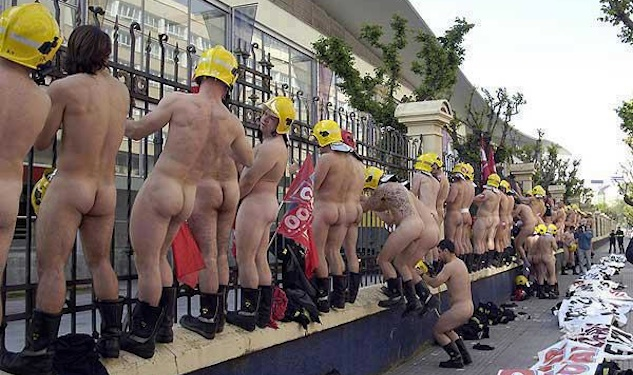PIC OF THE DAY: Naked Basque Firemen Protest