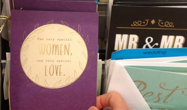 Target Stocks Same-Sex Wedding Cards