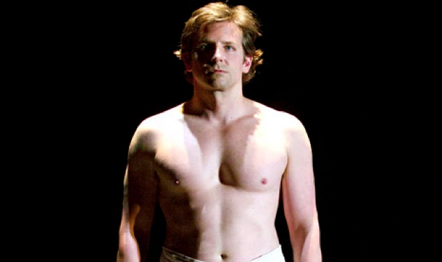 Shirtless Bradley Cooper Plays the Elephant Man