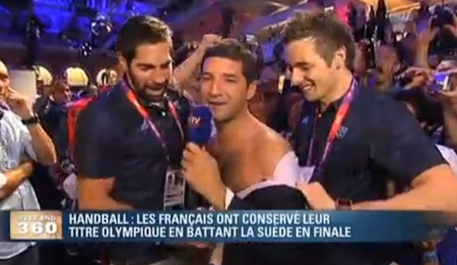 VIDEO: French Handballers Undress Cute Reporter