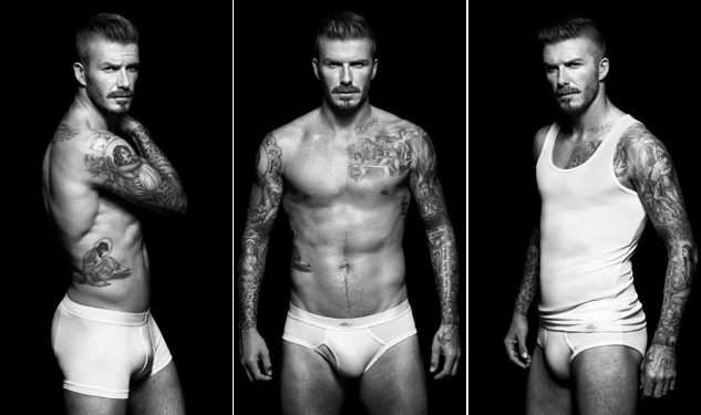 David Beckham Shows Off for H&M