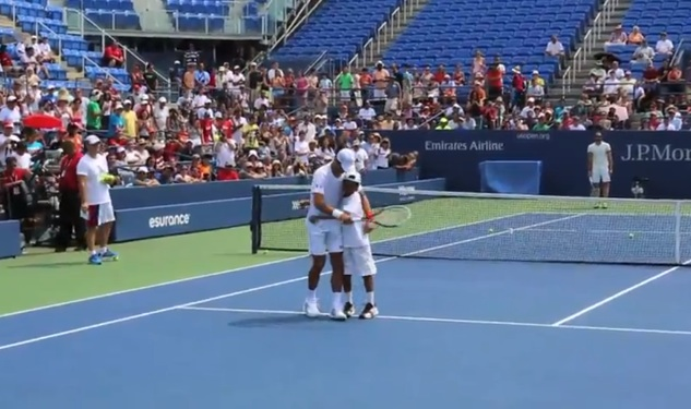 Boy Shouts Marriage Proposal at Djokovic During U.S. Open Practice