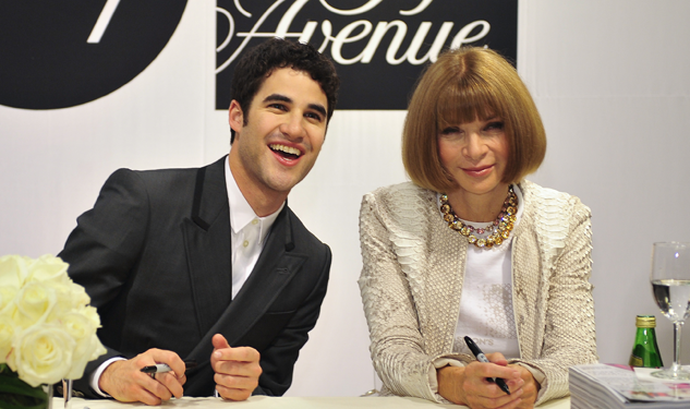 About Last Night: Darren Criss and Anna Wintour Greet Fans for Fashion's Night Out