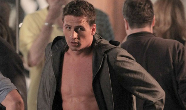 Ryan Lochte Goes Shirtless for '30 Rock'