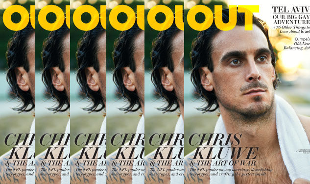 Chris Kluwe on Cover of Out's November Issue